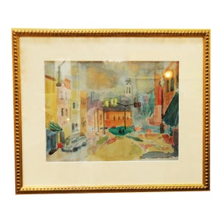 Lithograph of Street Scene by Murat Kaboulov For Sale