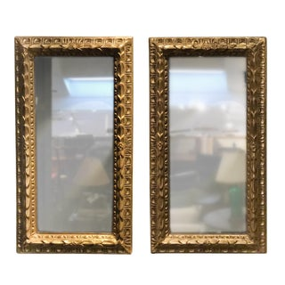 Late 19th Century French Giltwood Mirrors - a Pair For Sale