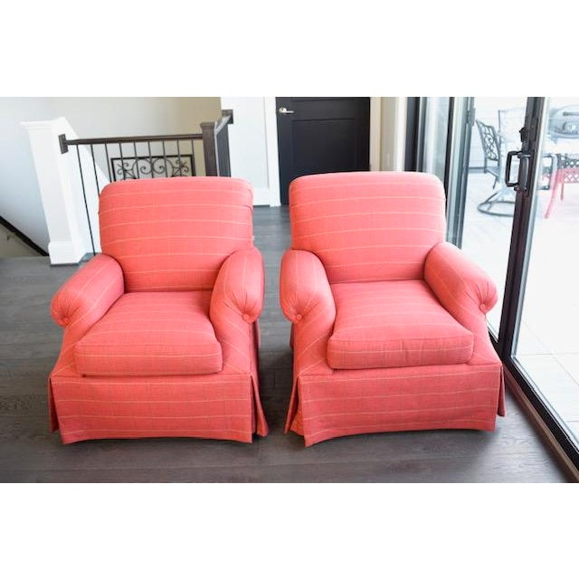 Modern Transitional Sherrill Custom Made Chairs - A Pair For Sale In Washington DC - Image 6 of 6