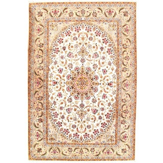 "Persian Isfahan Area Rug - 9'9"" X 6'6"" For Sale"
