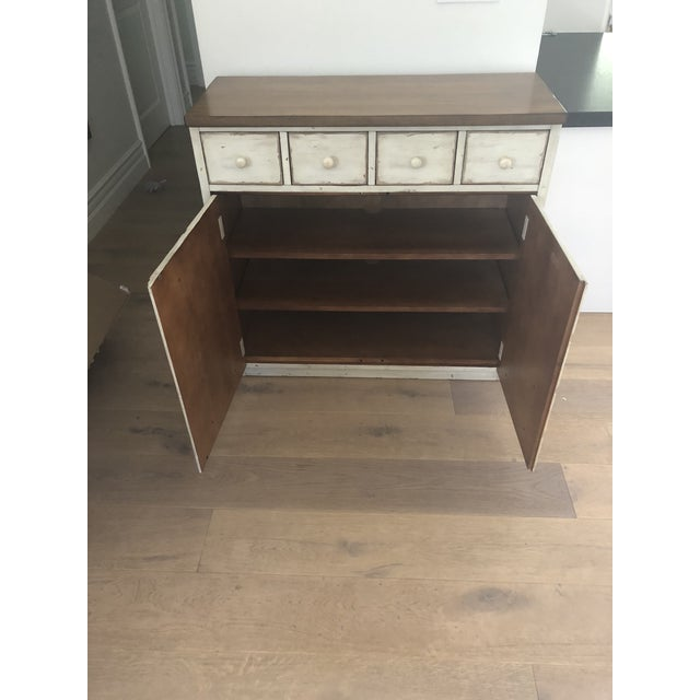 Pottery Barn Pottery Barn Shabby Chic Console Table With Drawers For Sale - Image 4 of 5