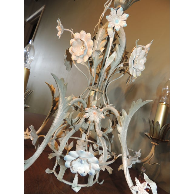 Fl Italian Tole Chandeliers A Pair For Image 11 Of 13