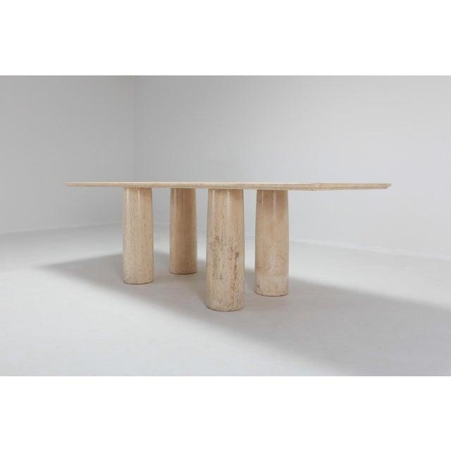 Travertine Dining Table by Mario Bellini 'Il Colonnato' For Sale - Image 6 of 11