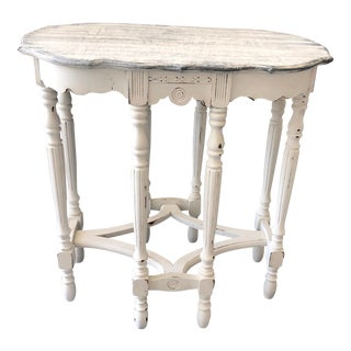 Victorian Accent Table With Faux Driftwood Top For Sale