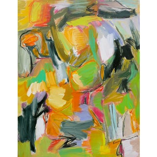 """Road Home"" by Trixie Pitts Large Abstract Expressionist Oil Pianting For Sale"