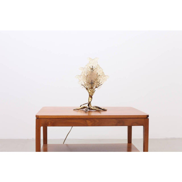 Brass Beautiful Unique Brass Tree Table Lamp by Henri Fernandez For Sale - Image 7 of 9