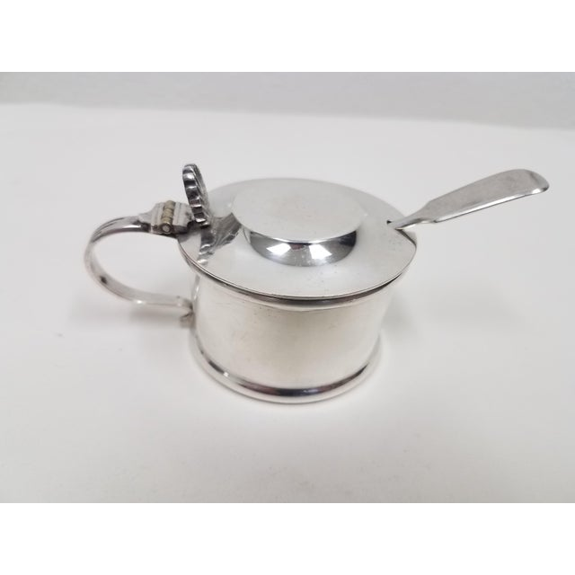 Antique Silverplate Mustard Pot With Spoon - 2 Pieces For Sale - Image 13 of 13