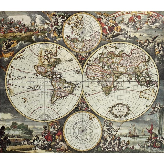 Inset World Map Explorer Coffee Table - Image 6 of 6