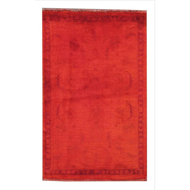 """Traditional Vintage Overdyed Rug, 2'6"""" x 4'2"""" For Sale - Image 3 of 3"""