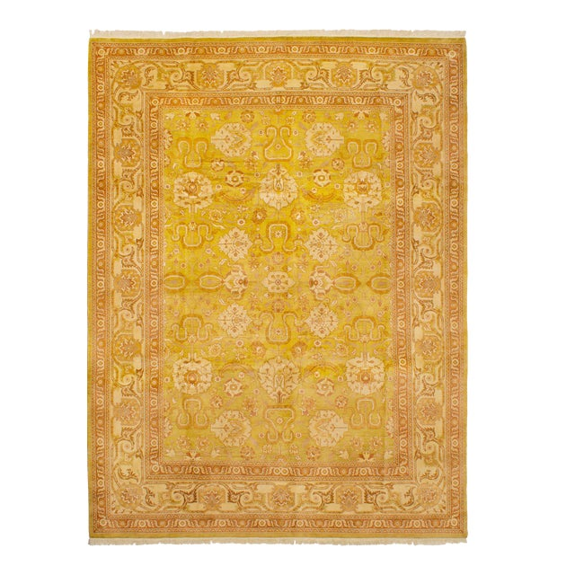 """Classic Hand-Knotted Rug, 9'0"""" X 12'0' For Sale"""