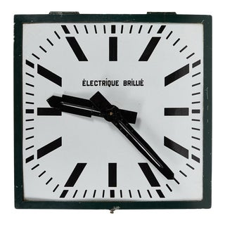 Turn of the Century French Industrial Clock For Sale