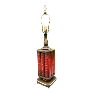 Frederick Cooper Trompe l'Oeil Library Lamp For Sale