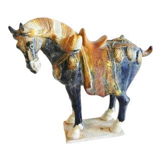 Multi Colored Terra Cotta Horse For Sale