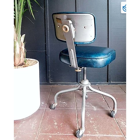 Beautiful accent leather office chair. Sapphire teal adds the perfect touch to any space.