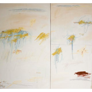 """""""Benedicente, Agotante, Éphémère"""" Contemporary Minimalist Abstract Mixed-Media Painting by Brian Jerome For Sale"""
