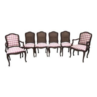 1980s Henredon French Provincial Ash Dining Chairs - Set of 6