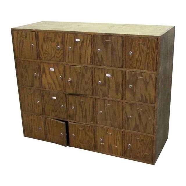Antique Wooden Locker Unit For Sale - Image 5 of 10