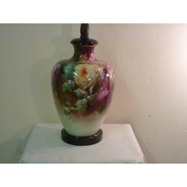 French Beaux Arts Rose Lamp - Image 3 of 4