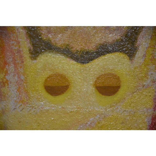 1970s Vintage Colorful Abstract Painting For Sale In Boston - Image 6 of 7
