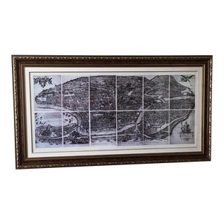 Black & White Frame Map of Rome