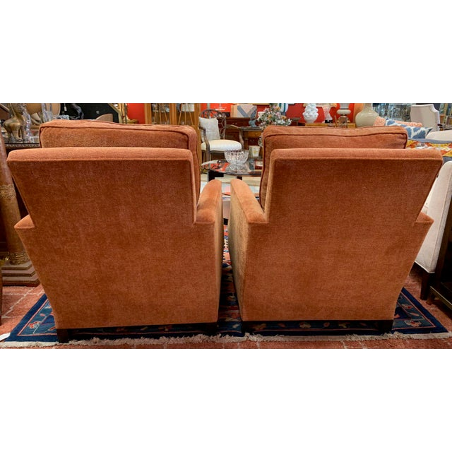 Italian Donghea Club Chairs - a Pair For Sale - Image 3 of 12