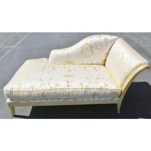 Regency Style Gilt Painted Recamier - Image 5 of 6