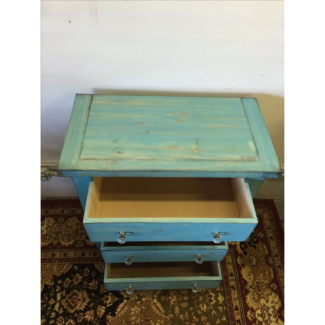 Blue Shabby Chic Chest - Image 3 of 6