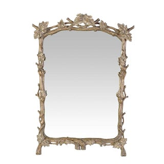 Italian White Gold Grapevine Mirror by Randy Esada Designs for Prospr For Sale