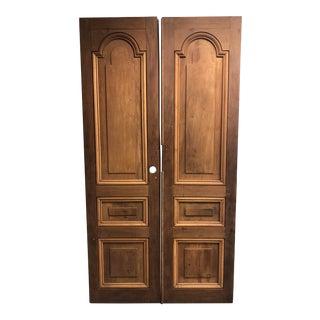 Country Mahogany Doors From La Casa Zaldivar, Pacheco in El Salvador - a Pair