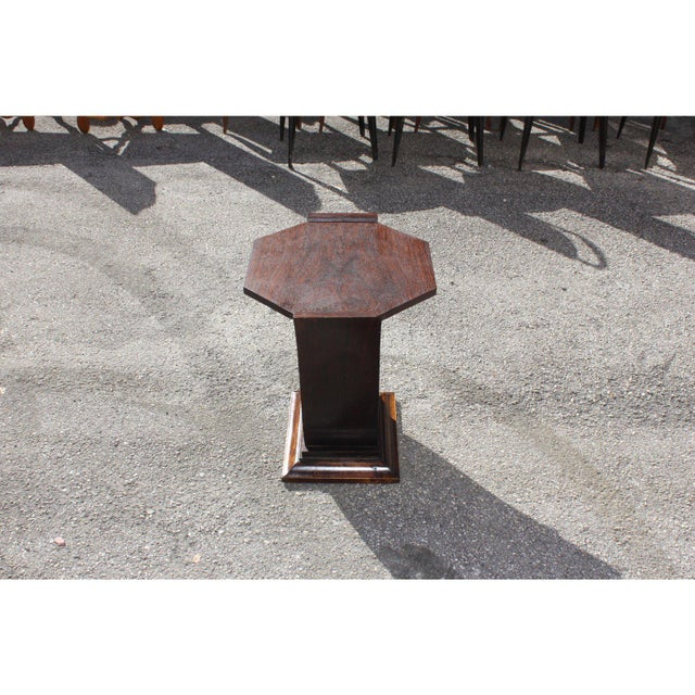 Brown 1940s Art Deco Macassar Ebony Tulip Coffee Table For Sale - Image 8 of 12