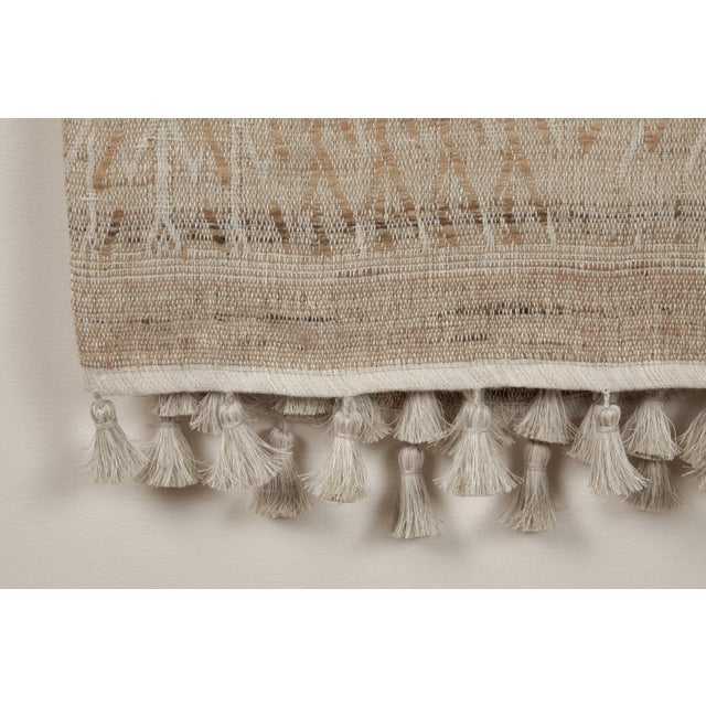 Indian Handwoven Bedcover Tree Natural For Sale - Image 4 of 5