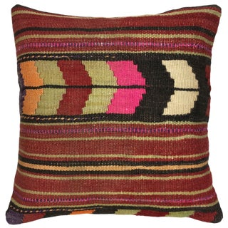 """Rug & Relic Kilim Pillow   16"""" For Sale"""
