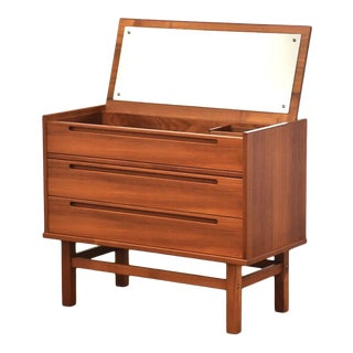 Nils Jonsson Teak Vanity Dresser For Sale