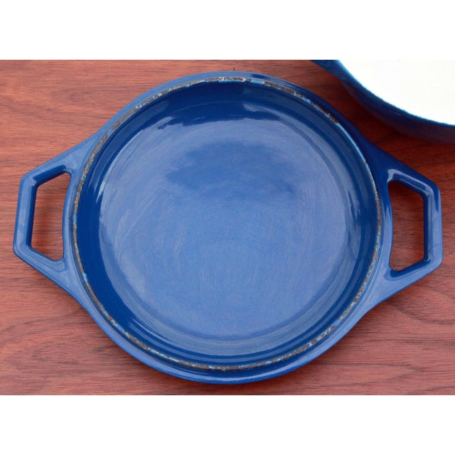 Cast Iron Vintage Blue Michael Lax for Copco Danish Modern Cast Iron Dutch Oven For Sale - Image 7 of 8