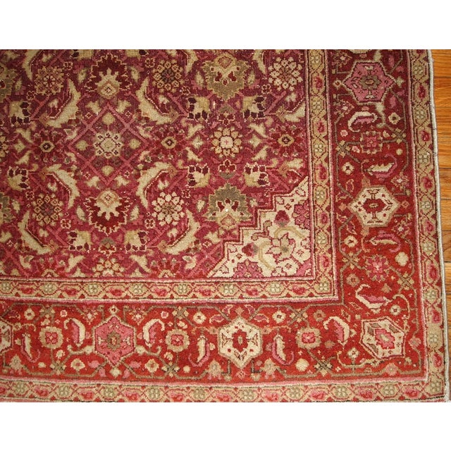 Antique Indian Amritsar Rug - 7′ × 9′8″ - Image 5 of 5