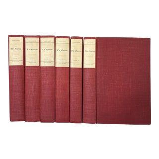 Early 20th Century Decorative Ruby Red Volume Set, English Classics - 6 Books For Sale
