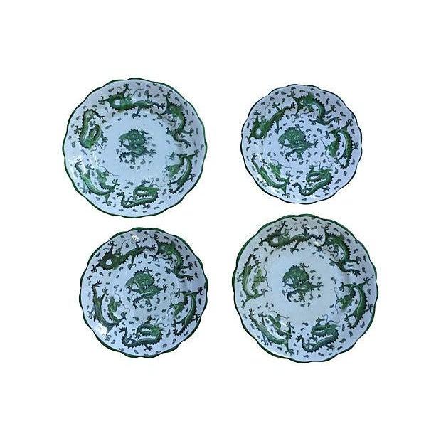 English Dragon Wall Plates - Set of 4 - Image 1 of 6