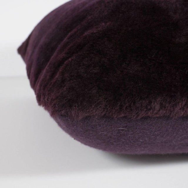 Black Custom Handmade Pillows in Luxe Smoked Amethyst Loro Piana Cashmere For Sale - Image 8 of 9