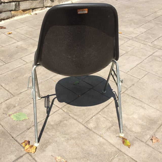 Herman Miller Padded Eames Fiberglass Shell Chair For Sale - Image 5 of 10