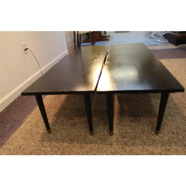 Mid Century Modern Ebonized Coffee Tables - Pair - Image 10 of 11
