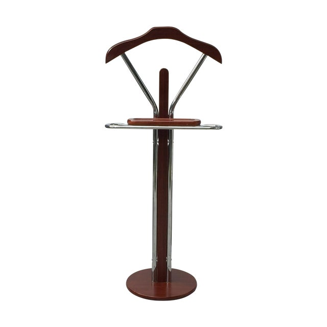 Chrome & Wood Men's Valet Stand - Image 1 of 7