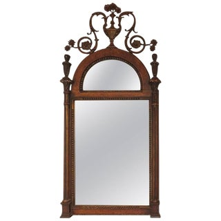 Adam Style Wood and Gilt Mirror For Sale