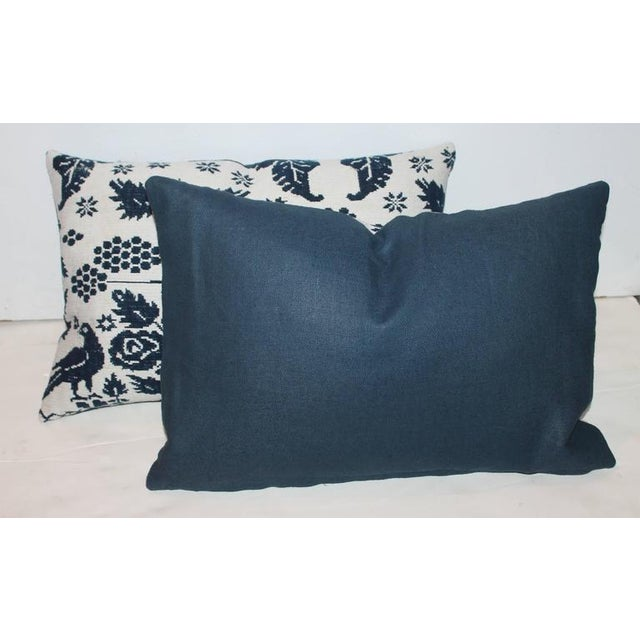 Pair of 19th Century Lancaster Co. Coverlet Pillows - Image 2 of 7