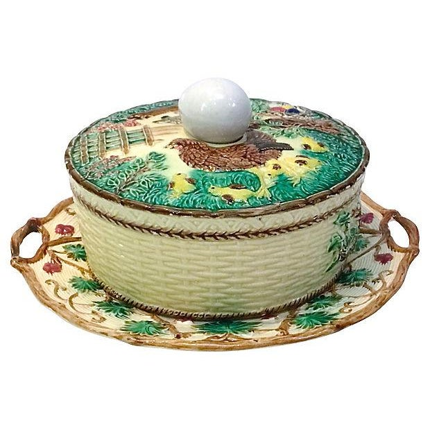Antique Majolica French Green Tureen For Sale - Image 11 of 11