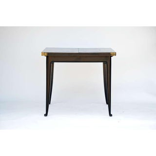 Chic Ebonized French 1940s Folding Center or Dining Table Preview