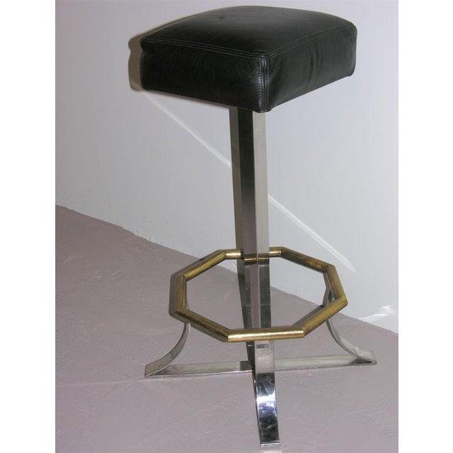 Maison Jansen Swivel Bar Stools - a Pair For Sale In New York - Image 6 of 8