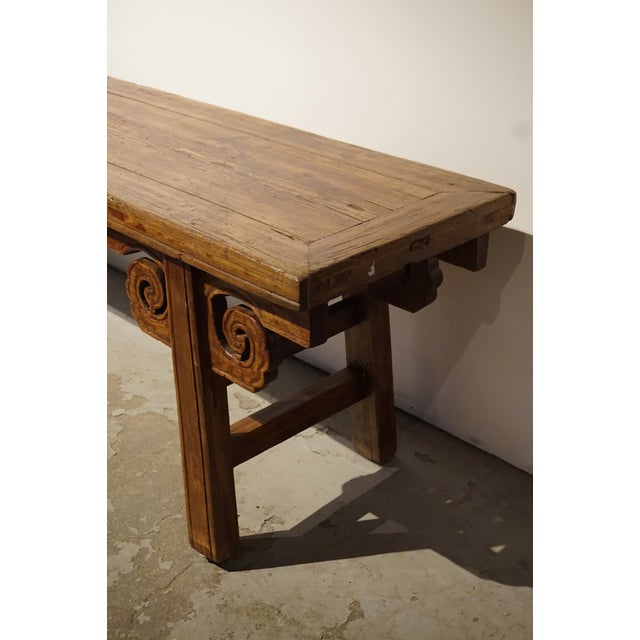 Antique Chinese Carved Bench - Image 3 of 5