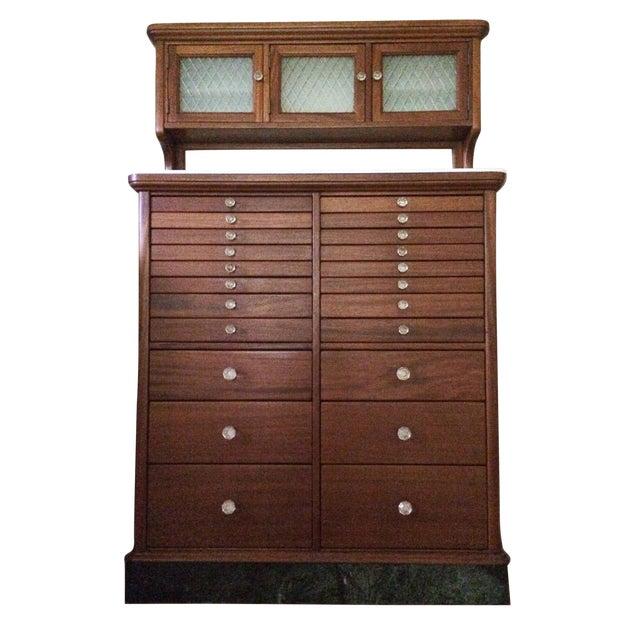 Antique Wood Dental Cabinet - Antique Wood Dental Cabinet Chairish