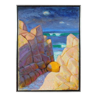 Carmel, California Seascape, Mid Century Oil