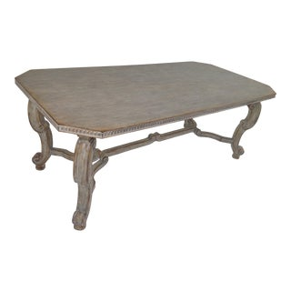 Custom Grey Ceruse Finish Dining Table For Sale